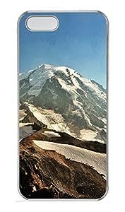 iPhone 5 5S Case landscapes nature snow mountain 33 PC Custom iPhone 5 5S Case Cover Transparent