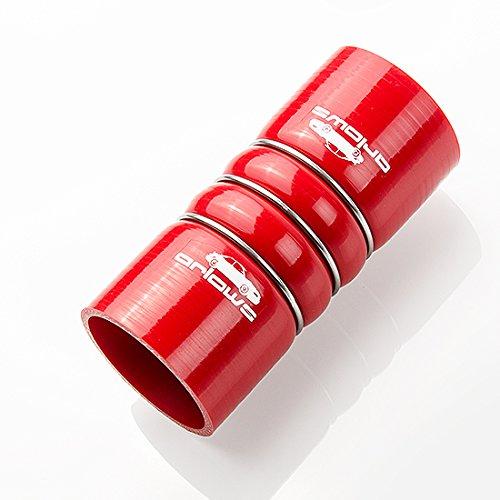 Tubo in Silicone, diametro 54 mm, rinforzato, con connettore da 160 mm, colore: rosso Arlows