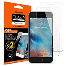 iPhone 6 Screen Protector, Spigen® [2 Pack] iPhone 6 / 6S Glass Screen Protector [Tempered Glass] Most Durable[Easy-Install Wings] Rounded Edge [Lifetime Warranty]