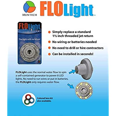 2) LED Swimming Above Inground Pool Flo Lights Wireless Universal Return - Pair : Garden & Outdoor