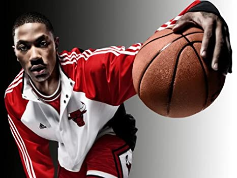 62b6cd78159 Image Unavailable. Image not available for. Color  D5203 Derrick Rose MVP Chicago  Bulls NBA 32x24 Print POSTER