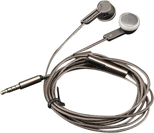 Uzinb 3,5 mm para Auriculares de Alta fidelidad Auriculares con Cable de Auriculares con micrófono Smartphone Tableta del Ordenador portátil del Ordenador Auriculares, Negro: Amazon.es: Hogar