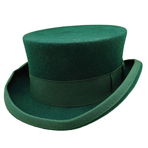 HATsanity Unisex Vintage Wool Felt Formal Tuxedo Coachman Hat -
