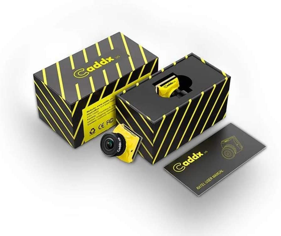 Yellow Caddx Ratel Newest FPV Camera 1//1.8 Starlight HDR OSD 1200TVL 16:9 NTSC 1.66mm Lens for FPV Quadcopter Racing Drone