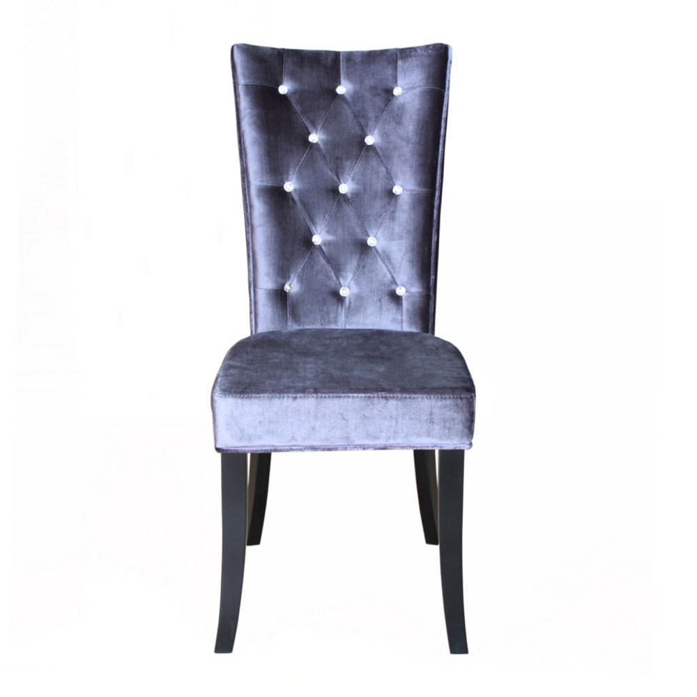 Radiance Velvet Dining Chair (Silver)   SINGLE CHAIR: Amazon.co.uk: Kitchen  U0026 Home