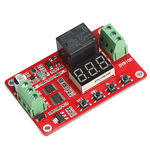 DROK Digital Voltage Comparator DC 0-100V Voltage Monitor Controller Relay Module Panel Voltmeter with LED Display Charging Discharging Over&Under Voltage Protection by DROK