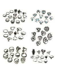Adramata 68 Pcs Vintage Knuckle Rings for Women Girls Stackable Midi Finger Ring Set