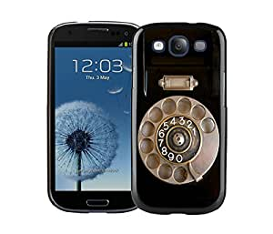 Elegant Classic Samsung Galaxy S3 Case Durable Soft Silicone TPU Retro Telephone Black Cell Phone Case Cover Protector by icecream design