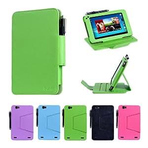 i-UniK Hisense Sero 7 PRO Tablet Case / Multi-Angles Cover [Retail Packaging & FREE Stylus Pen] - (LIME GREEN)