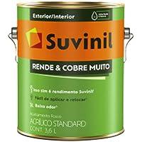 Tinta para paredes acrilico rende e cobre muito 3,6L - Branco - 50308370