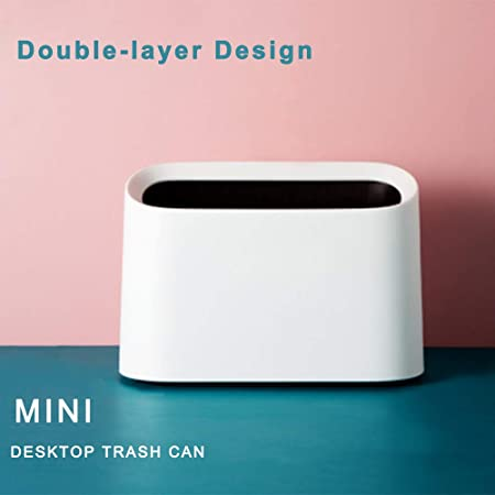 Cubo de Basura de Mesa Plastico, Papelera de Escritorio Mini Bote ...