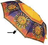 Laurel Burch Pongee Umbrellas Lbu006_A Laurel Burch `Harmony Under The Sun` Compact Umbrella Multicolored