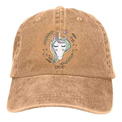 Amazon.com: Baseball Cap Gorras para Hombres Dad Cap Polo Hat Gorras De Mujer Unicorn Casquette Black: Clothing