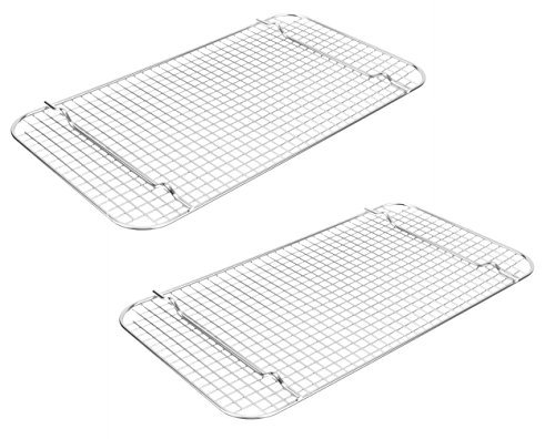 Vollrath 20028 Super Pan V Full-Size Wire Cooling Grates Racks, Set of 2 (Stainless Steel) (Steam Table Pan Rack)