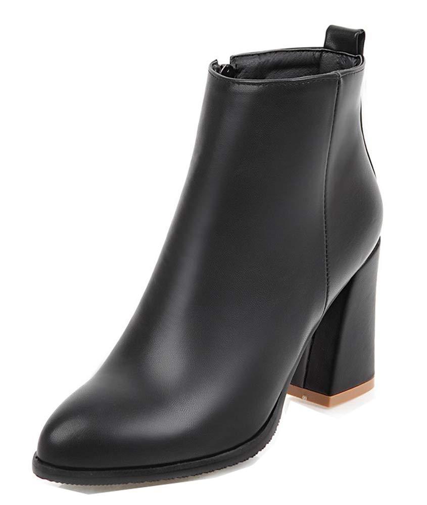 Aisun Femme Mode Chaussures à Talon Haut Chaussures Evénement B06VVGBDDG Bottines 19430 avec Zip Noir f6d1bbb - deadsea.space