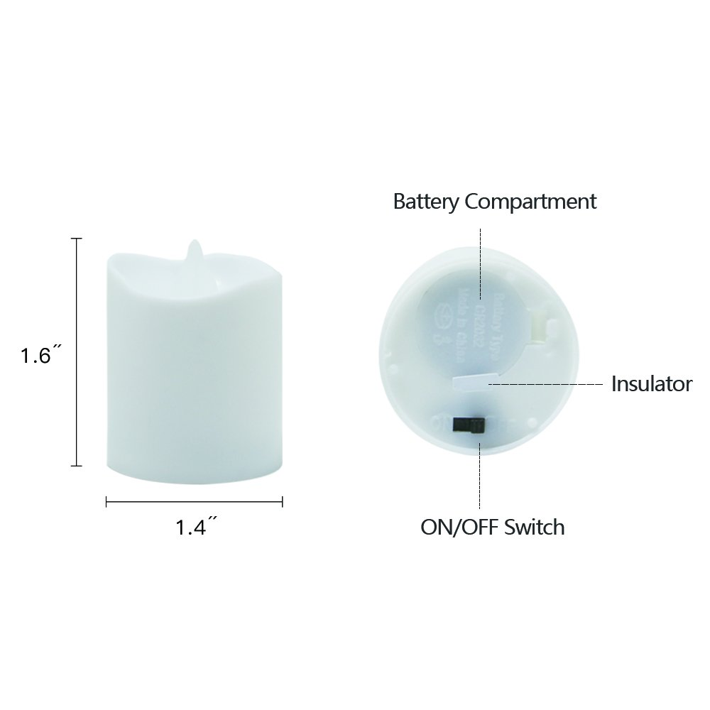 Novelty Place [Longest Lasting Battery Operated Flickering Flameless LED Votive Candles (Pack of 96) by Novelty Place (Image #3)