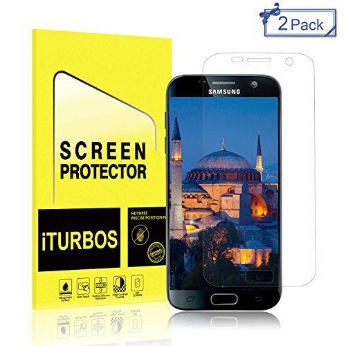 Galaxy S7 Screen Protector [2-Pack],iTURBOS Full Screen Coverage 3D PET HD Screen Protector Film for Samsung Galaxy S7