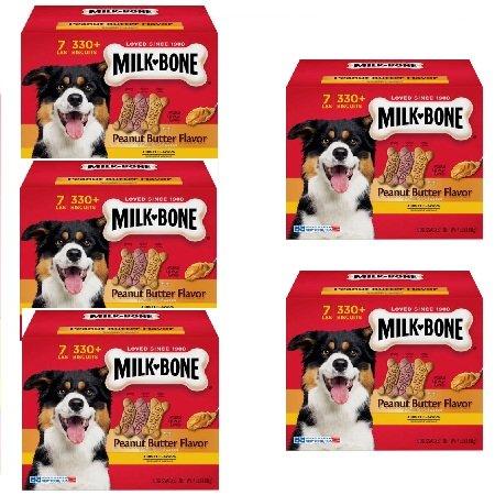 Milk-Bone Peanut Butter Flavor Dog Treats Variety Pack, Small/Medium/7 lb by Milk-Bone (5 Box)