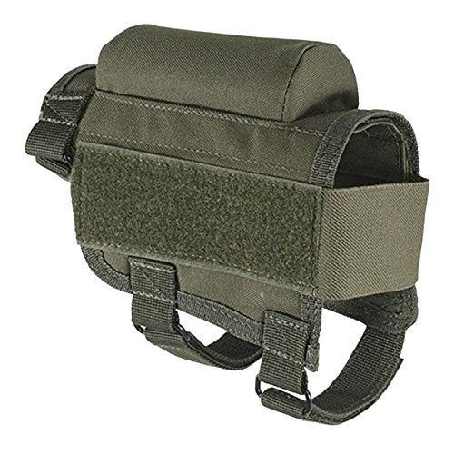 TargetEvo Adjustable Tactical Hunting Buttstock Cheek Rest With Ammo Carrier Case Shell Holder Pouch Pack