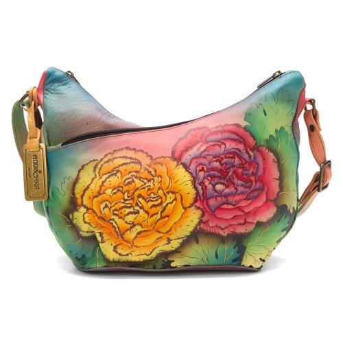 U Top Carnations Convertible Anuschka Colorful TTPS Hobo Adnqwx