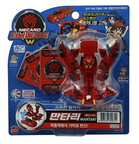 TURNING MECARD W - Mantari Red Transforming Robot Car Toys