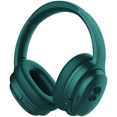 COWIN SE7 Active Noise Cancelling Headphones Bluetooth Headphones Wireless Headphones Over Ear With Mic/Aptx, Comfortable Protein Earpads 30H Playtime, Foldable Headphones For Travel/Work - Dark Green