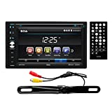 BOSS Audio BVB9376RC Double Din, Touchscreen, Bluetooth, DVD/CD/MP3/USB/SD AM/FM Car Stereo, 6.5 Inch Digital LCD Monitor, Wireless Remote, Rear License Plate Mount Camera Included