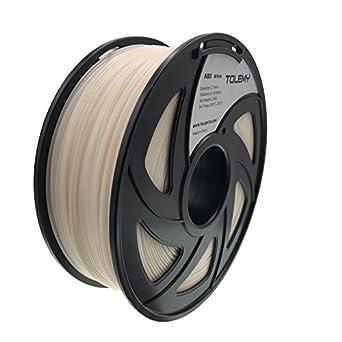 TOLEMY Filamento de impresora 3D ABS blanco, 1 kg bobina ...
