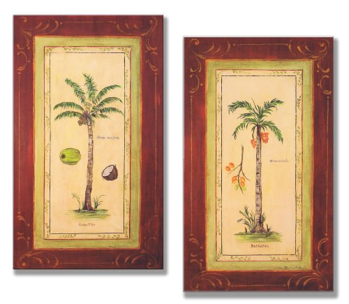Stupell Home Décor Oversized Betel Nut And Coconut Palm Tree Wall Plaques, 12 x 0.5 x 21, Proudly Made in (Coconut Palm Wood)