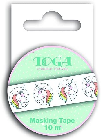 Autre Multicolore Toga Masking Tape Licorne 5 x 6.5 x 1.5 cm
