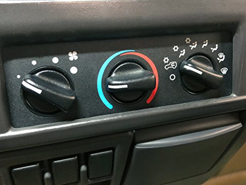 Fan Speed Switch Red Hound Auto 3 Control Knobs HVAC Temperature Vent Selector Exact Custom Fit 1997-2006 Compatible with Jeep Wrangler TJ Climate Adjust Black