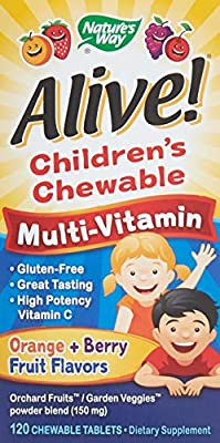 Natures Way Alive Childrens Natural Orange and Berry Multi-Vitamin Chewable Tablet, 120 per unit - 1 each.