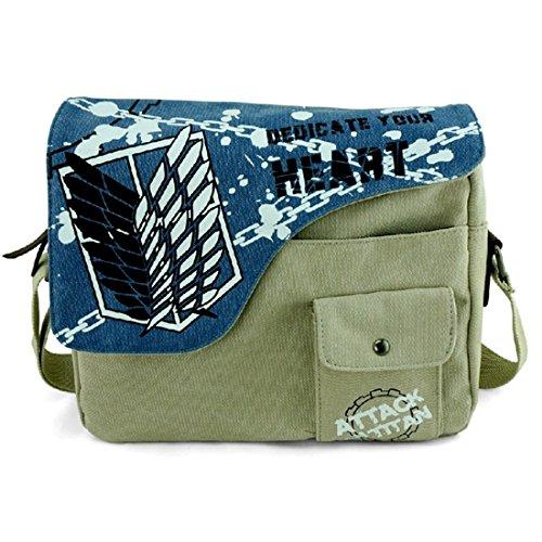 YOYOSHome Anime Attack on Titan Cosplay Handbag Crossbody Bag Messenger Bag Shoulder Bag (2) by YOYOSHome (Image #1)