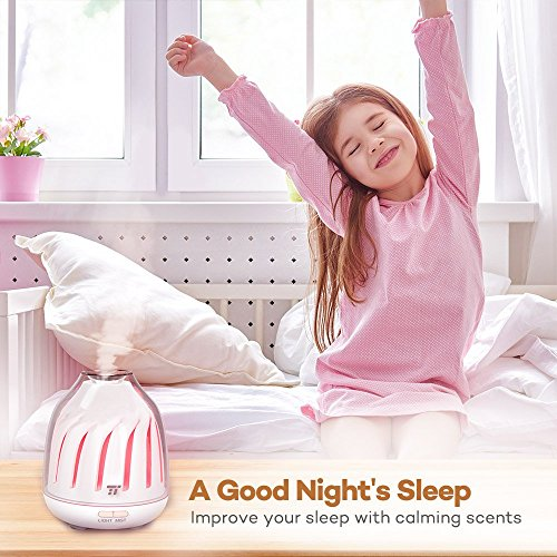 TaoTronics Diffuser, No-Beep Sound Essential Oil Diffusers, Silent Operation 120ml Aromatherapy Diffuser Kids (Breathing Light, 5 LED Colors, 2 Mist Modes Ultrasonic, Waterless Auto Shut Off) by TaoTronics (Image #4)