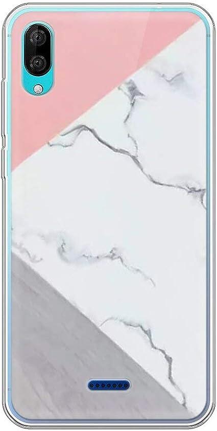 Pnakqil Coque Wiko Y80, Clair Transparente avec Motif Silicone Bumper Antichoc en Gel TPU Flexible Souple Ultra Mince Fine Housse de Protection Case ...