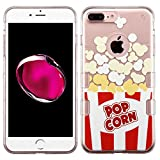 Asmyna Cell Phone Case for Apple iPhone 7 Plus - Transparent clear Butter Popcorn