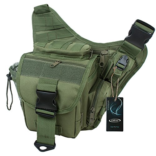 G4Free Multi-functional Tactical Messenger Bag Utility Pouch Versipack (Army Green)