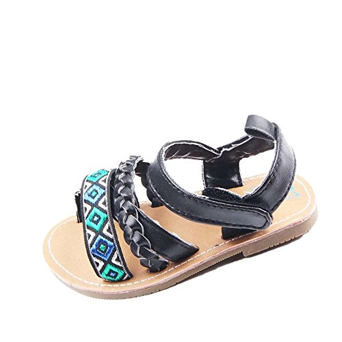 Tefamore Sandalias Zapatos De Bebé Al Aire Libre Toddler Princesa First Walkers Negro
