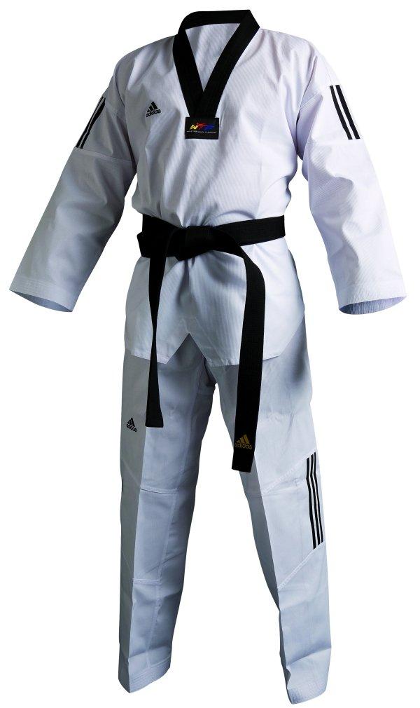 Adidas Taekwondo, Adi Club 3Stripes, con Solapa Negra