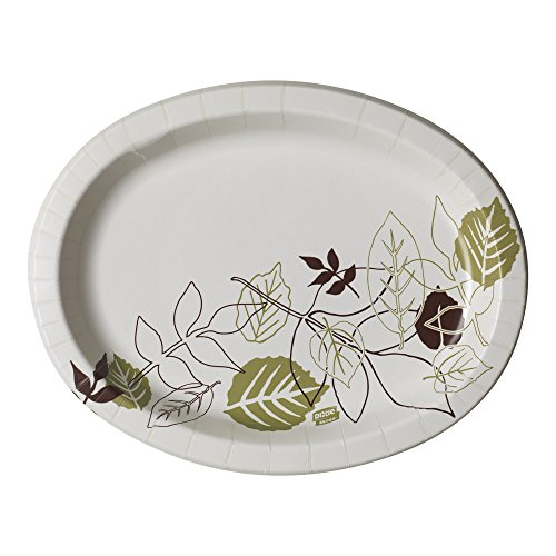 Dixie Ultra SX11PLPATH Pathways Heavy Weight Oval Paper Platter, 11