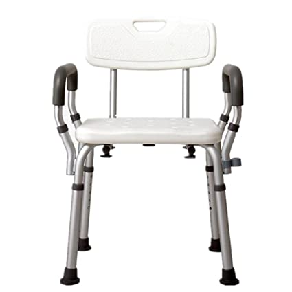 amazon com 5 adjustable height portable shower stool shower chair