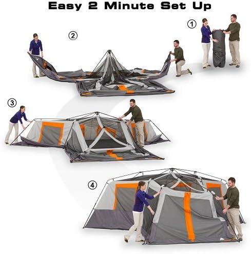 Ozark Trail 12-Person Tent Setup