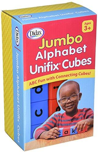 Didax Jumbo Alphabet Unifix Cubes, Set of 30