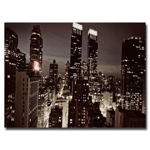 NYC After Dark by Ariane Moshayedi, 30×47-Inch Canvas Wall Art