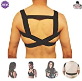 Shoulder Posture Corrector by FOMI Care | Upper Back Support and Brace | Lightweight, Fastener Strap | Back Straightener, Promote Healthy Postural Position (XXL - Mens XL; Womans XL)