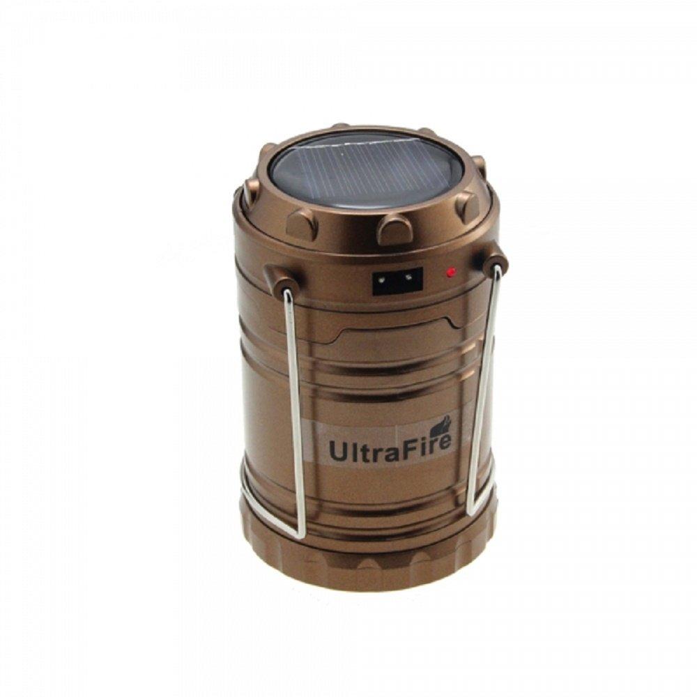 Svitlife 5W 200LM Portable Solar Charging Emergency Lighting LED Camping Lantern Lamp Bronze
