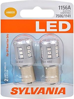 SYLVANIA Ideal for Park and Turn Lights 3047 LED Amber Mini Bulb Bright LED Bulb Contains 2 Bulbs