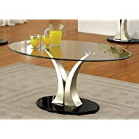 Furniture of America Kassandra Modern Coffee Table, Metallic Finish