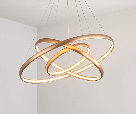 Lámpara colgante LED114W Lámpara de techo de aluminio dorado ...