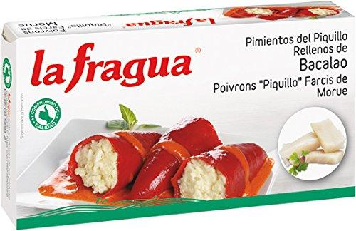 La Fragua Pimientos Del Piquillo Rellenos De Bacalao - 346 gr: Amazon.es: Alimentación y bebidas
